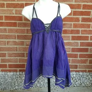 New Romantics FREE PEOPLE Purple Strappy Top